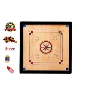 Carrom Board with Coins and powder