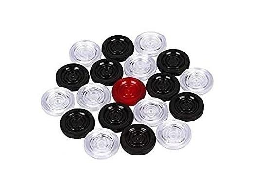 Transparent Plastic Carrom Coins